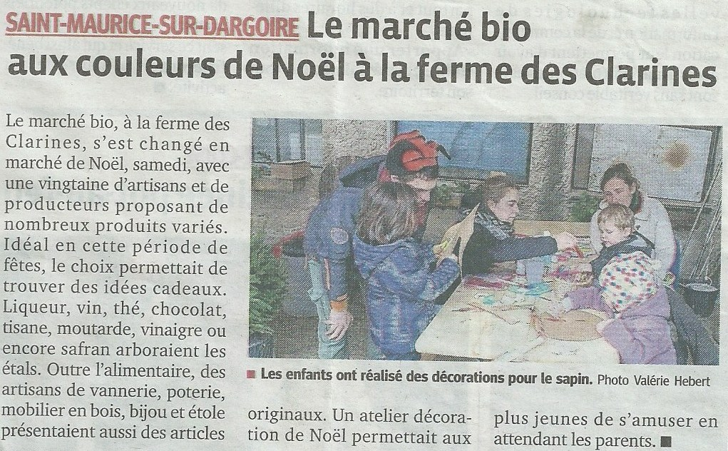 Article Progrès Marché de noel 2014